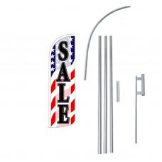 Sale USA Extra Wide Windless Swooper Flag Bundle