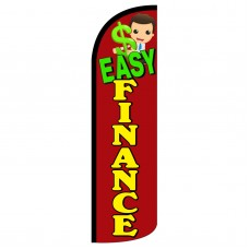 Easy Finance Red Extra Wide Windless Swooper Flag
