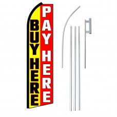 Buy Here Pay Here Swooper Flag Bundle