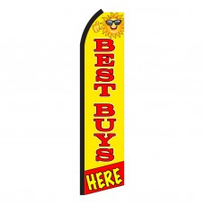 Best Buys Here Yellow Swooper Flag