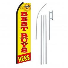 Best Buys Here Yellow Swooper Flag Bundle