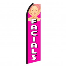 Facials Pink & White Swooper Flag