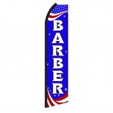 Barber Red, White & Blue Swooper Flag