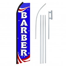 Barber Red, White & Blue Swooper Flag Bundle