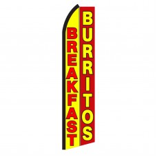 Breakfast Burritos Swooper Flag