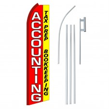 Accounting Red & Yellow Swooper Flag Bundle