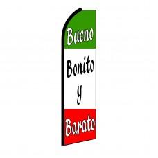 Bueno Bonito Y Barato Swooper Flag