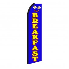 Breakfast Blue & Yellow Swooper Flag