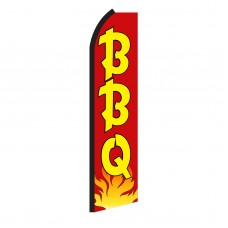 BBQ Red & Yellow Swooper Flag