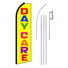 Daycare Yellow & Multi Swooper Flag Bundle