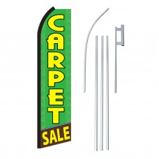 Carpet Sale Green Swooper Flag Bundle