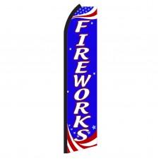 Fireworks Red, White & Blue Swooper Flag