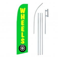 Wheels Yellow & Green Swooper Flag Bundle