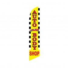 Auto Body Shop Swooper Flag