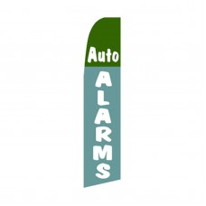 Auto Alarms Blue/Green Swooper Flag