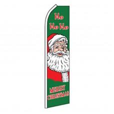 Merry Christmas HoHoHo Swooper Flag