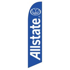 Allstate Blue Windless Swooper Flag