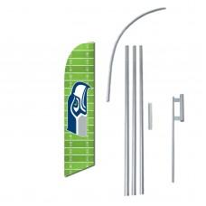 Seattle Seahawks Field Windless Swooper Flag Bundle