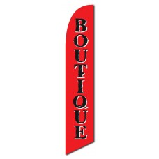 Boutique Red Windless Swooper Flag