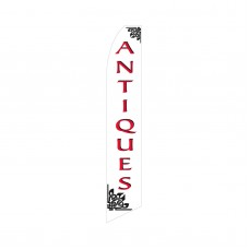 Antiques Red/White Swooper Flag
