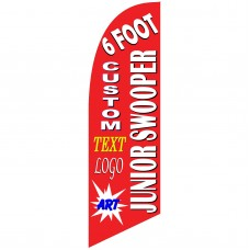 Custom Junior 6' Swooper Flag Single Sided