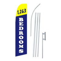1,2 & 3 Bedrooms Swooper Flag Bundle