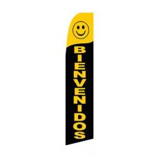 Bienvenidos(Welcome) Black Swooper Flag