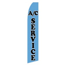 A/C Service Blue Swooper Flag