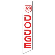 Dodge Ram White Swooper Flag