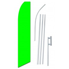 Solid Neon Green Swooper Flag Bundle