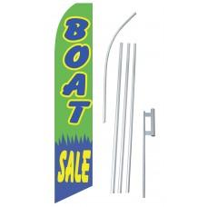 Boat Sale Green Swooper Flag Bundle