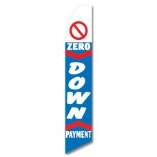 0 Down Payment Blue Swooper Flag