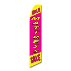 Mattress Sale Pink Yellow Swooper Flag
