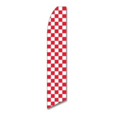 Checkered Red/Wht Swooper Flag