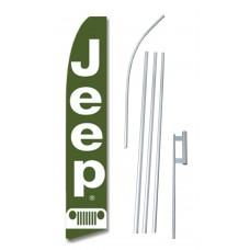 Jeep Green Swooper Flag Bundle