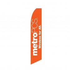 Metro PCS Orange Swooper Flag