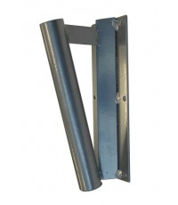 Steel Angle Wall Mount Flag Pole Holder Base