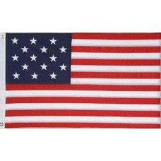 US 15 Star Historical 3'x 5' Flag