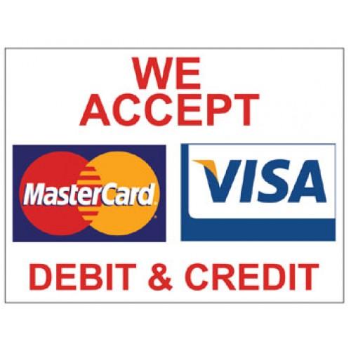 Bright Business Card Red Color: Visa/Mastercard Poster (POSTER-VISA H)