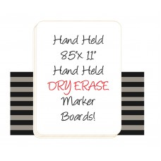 Dry Erase Student Marker Board