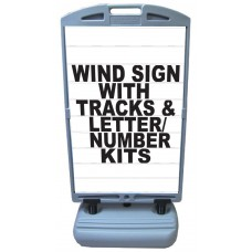 Wind Sign DELUXE - Letter Track Panels