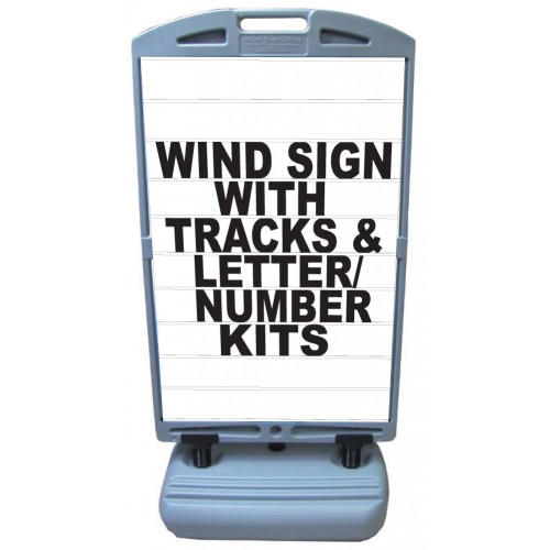 Wind sign deluxe letter track panels ws11 1833lk by for Sign letter track kit