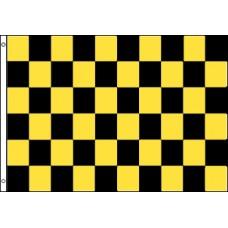 Checkered Black & Yellow 3'x 5' Flag