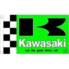 Kawasaki Motocross 3'x 5' Flag