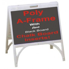 Poly A-Frame With Chalkboard Inserts 1824