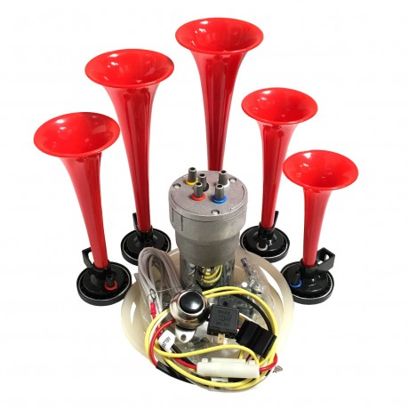 Dixie Red Automotive Air Horn - Complete Kit