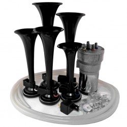 Dixie Black Automotive Air Horn - Horn Only