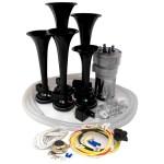 Dixie Black Automotive Air Horn - Complete Kit