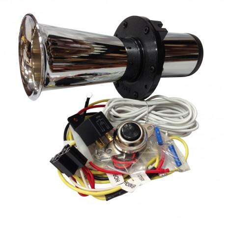 Ooga Chrome Automotive Air Horn - Complete Kit