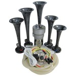 Dixie Carbon Automotive Air Horn - Complete Kit
